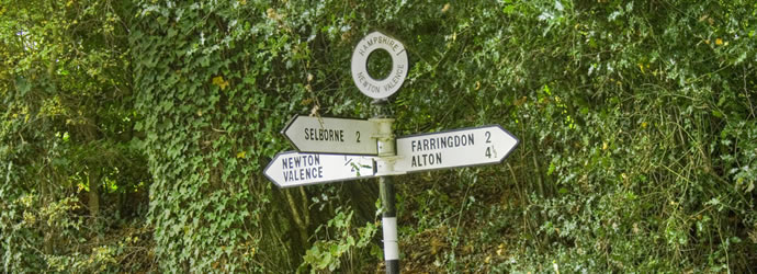 Hampshire Sign Post